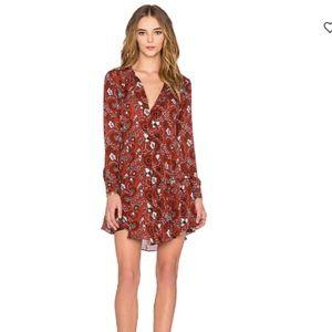 ALC Orange Print Randi Dress Size 4